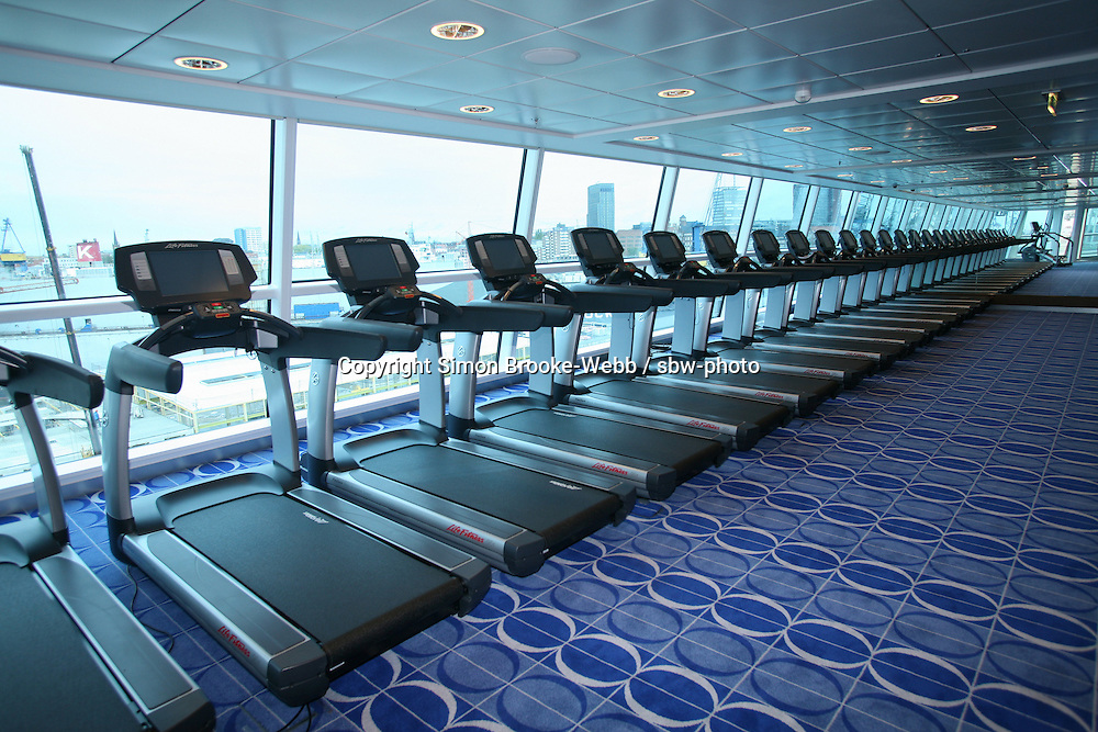 Celebrity Solstice in Hamburg..The Gym