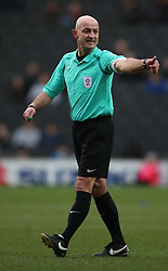 Referee Roger East during the Sky Bet League One match at Stadium MK, Milton Keynes .
