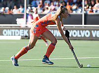 BREDA - Sanne Koolen (Ned) tijdens de finale  Nederland-Japan (8-2) van de 4 Nations Trophy dames 2018 . COPYRIGHT KOEN SUYK