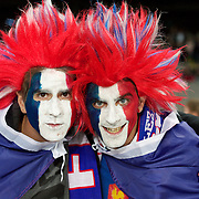 French fans during the New Zealand V France Final at the IRB Rugby World Cup tournament, Eden Park, Auckland, New Zealand. 23rd October 2011. Photo Tim Clayton...