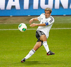 15.10.2013, Friends Arena, Stockholm, SWE, FIFA WM Qualifikation, Schweden vs Deutschland, Gruppe C, im Bild Germany 16 Philipp Lahm // during the FIFA World Cup Qualifier Group C Match between Sweden and Germany at the Friends Arena, Stockholm, Sweden on 2013/10/15. EXPA Pictures � 2013, PhotoCredit: EXPA/ PicAgency Skycam/ Sami Grahn<br /> <br /> ***** ATTENTION - OUT OF SWE *****