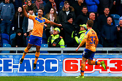 Nicky Maynard of Mansfield Town celebrates his goal - Mandatory by-line: Ryan Crockett/JMP - 25/01/2020 - FOOTBALL - One Call Stadium - Mansfield, England - Mansfield Town v Bradford City - Sky Bet League Two