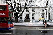 London | April 7, 2010 | Thousands visit Abbey Road Studios in northwest London every year and leave a note at the outside walls of the venue. The picture shows the entrance building of the studios from the other side of Abbey Road | © juelich/ip-photo.com