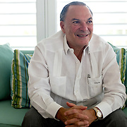 PUNTA CANA, DOMINICAN REPUBLIC-DECEMBER 4, 2014: Frank Rainieri, Dominican entrepreneur developed 58 million acres into what is now Punta Cana. Story on tourism to the Caribbean Island.  (Photo by Angel Valentin/Getty Images for Der Spiegel)