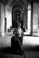 March 1997..Swiss actor Mario Adorf in Rome , Palazzo Antici-Mattei di Via Caetani