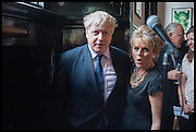 BORIS JOHNSON; RACHEL KELLY; , Launch of Rachel Kelly's memoir 'Black Rainbow' about recovering from depression with the help of poetry published by Hodder & Stoughton , ( Author proceeds will be given to the charities SANE and United Response ). Cafe of the National Gallery.  London. 7 May 2014