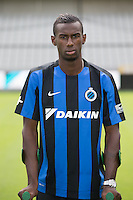 Club's Bernie Ibini poses for the photographer during the 2015-2016 season photo shoot of Belgian first league soccer team Club Brugge, Friday 17 July 2015 in Brugge