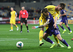 Luka Zahović of Maribor and Damjan Vuklisevic of Domzale during football match between NK Maribor and NK Domzale in 17th Round of Prva liga Telekom Slovenije 2019/20, on November 9, 2019 in Ljudski vrt, Maribor, Slovenia. Photo by Milos Vujinovic / Sportida