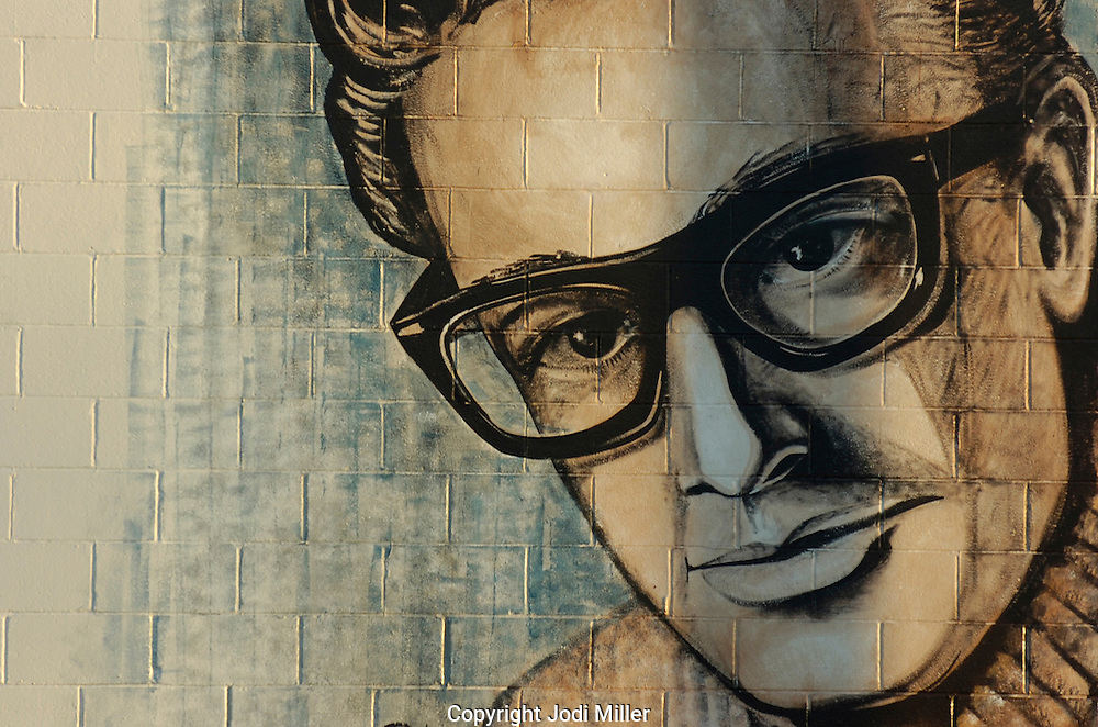 Buddy Holly mural in Lubbock, Texas