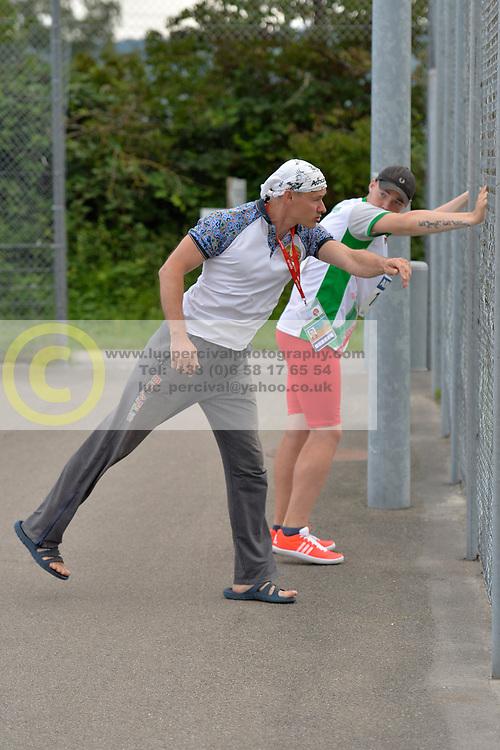 05/08/2017; Behind the scenes, Vasilevich, Dzmitry, F46, BLR at 2017 World Para Athletics Junior Championships, Nottwil, Switzerland