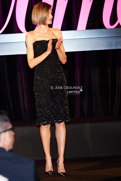 Queen Letizia of Spain attended the Delivery of  'Awards Woman Magazine' by Grupo Zeta at Casino on April 20, 2015 in Madrid