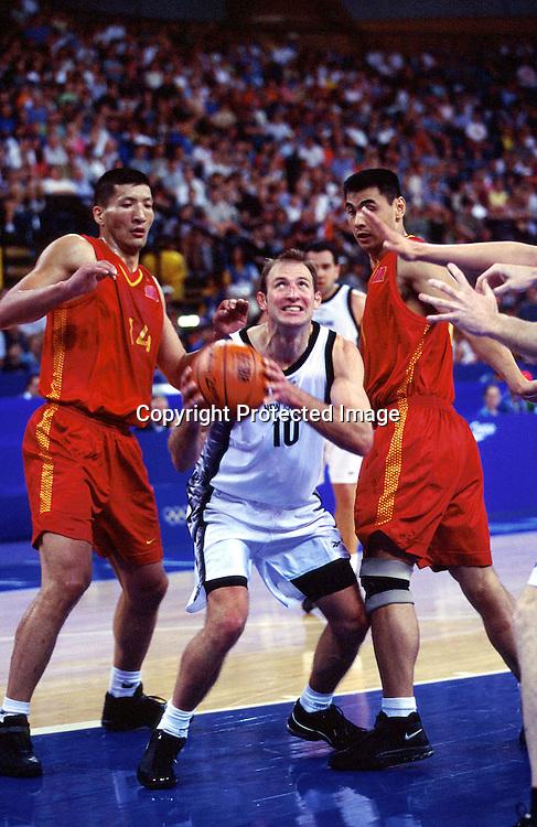 Tall Blacks Ralph Lattimore in action. New Zealand v China - Mens Basketball at the 2000 Olympics, The Dome, Sydney, Australia. 19 September 2000. Photo; Photosport.co.nz