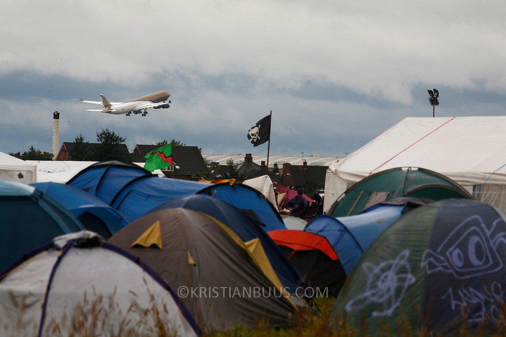 The Camp for Climate Change UK 2007<br /> The camp was a camp set up to highlight protests against a proposed third runway at Heathrow, destroying nearby villages and to put the spotlight on climate change issues.