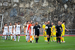 Players during football match between NK Domzale and FC Lusitanos Andorra in second leg of UEFA Europa league qualifications on July 7, 2016 in Andorra la Vella, Andorra. Photo by Ziga Zupan / Sportida