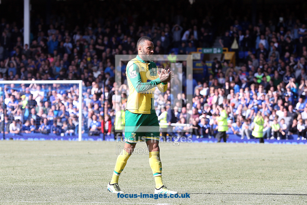 Nathan Redmond of Norwich at the end of the Barclays Premier League match at Goodison Park, Liverpool<br /> Picture by Paul Chesterton/Focus Images Ltd +44 7904 640267<br /> 15/05/2016