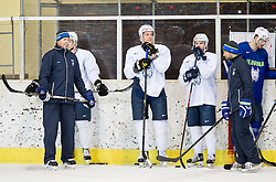 Nik Zupancic, Jan Urbas, Jan Mursak during practice session of Slovenian Ice Hockey National Team at training camp, on February 8th, 2016 in Ledna dvorana, Bled, Slovenia. Photo by Vid Ponikvar / Sportida