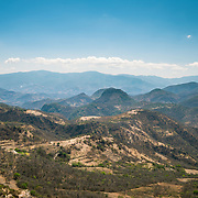 Mountain range of the Sierra Norte de Oaxaca, Mexico