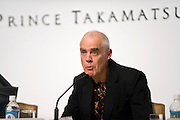 British sculptor, photographer and painter Richard Long speaks during a media event formally announcing the winners of this year's Praemium Imperiale, a global arts prize that is awarded annually, in Tokyo, Japan on Wed., Oct. 21 2009. Other winners included Britions playwright Tom Stoppard and architect Zaha Hadid..Photographer: Robert Gilhooly