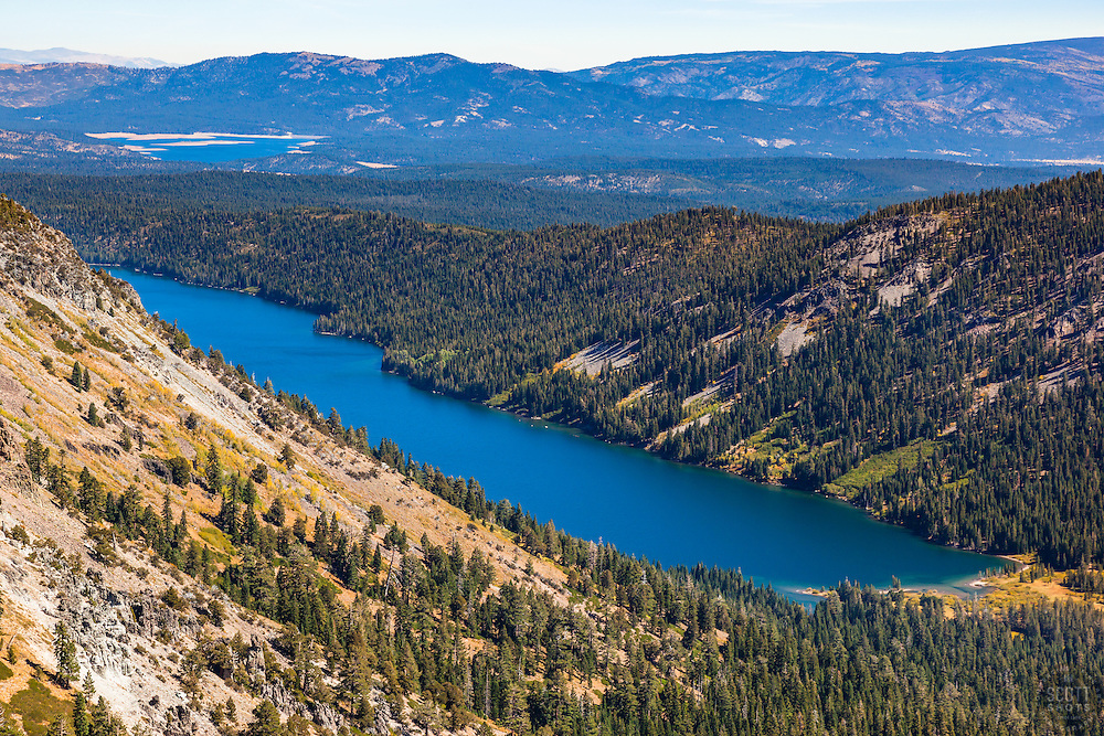 """Independence Lake, CA 2"" - Photograph of Independence Lake, taken from above the lake."