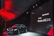 New York, NY, USA-23 March 2016. Mercedes introduced its new Mercedes-AMG E 43 at the New York Auto Show.