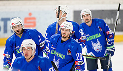 13.02.2016, Olympiaworld, Innsbruck, AUT, Euro Ice Hockey Challenge, Slowakei vs Slowenien, im Bild Torjubel Slowenien nach dem 4:3 durch Nik Pem (SLO) // Slowenia celebrating after Nik Pem of Slowenia scored a goal during the Euro Icehockey Challenge Match between Slovakia and Slovenia at the Olympiaworld in Innsbruck, Austria on 2016/02/13. EXPA Pictures © 2016, PhotoCredit: EXPA/ Jakob Gruber
