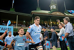 March 9, 2019 - Sydney, NSW, U.S. - SYDNEY, NSW - MARCH 09: Waratahs player Michael Hooper (7) runs on to the field at round 4 of Super Rugby between NSW Waratahs and Queensland Reds on March 09, 2019 at The Sydney Cricket Ground, NSW. (Photo by Speed Media/Icon Sportswire) (Credit Image: © Speed Media/Icon SMI via ZUMA Press)