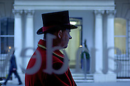 Doorman, The Mandeville Hotel, Mandeville Place, Marylebone, London, Great Britain, UK