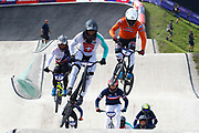 BMX Finals, David Graf (Switzerland), Joris Harmsen (Switzerland) during the Cycling European Championships Glasgow 2018, at Glasgow BMX Centre, in Glasgow, Great Britain, Day 9, on August 10, 2018 - Photo luca Bettini / BettiniPhoto / ProSportsImages / DPPI<br /> - Restriction / Netherlands out, Belgium out, Spain out, Italy out -
