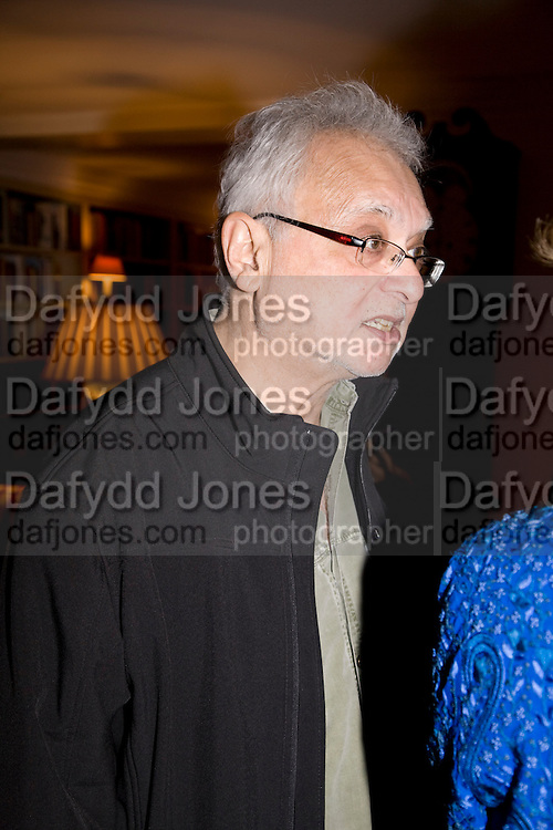 Faroukh Dhondy;  Aatish Taseer  book launch party for his new book Stranger To History. Travel book asks what it means to be a Muslim in the 21st century. Hosted by Gillon Aitken. Kensington, London. 30 March 2009