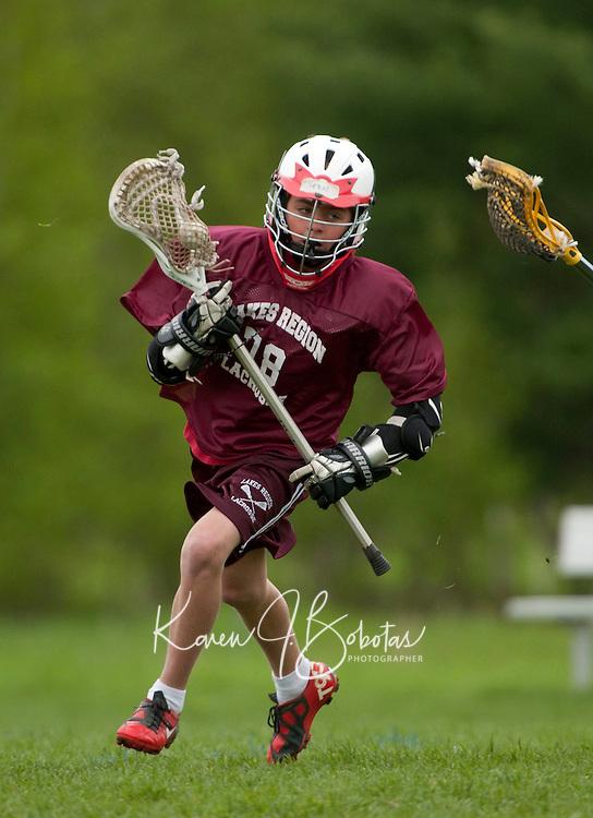 Lakes Region Lacrosse U13 boy versus Goffstown May 22, 2011.