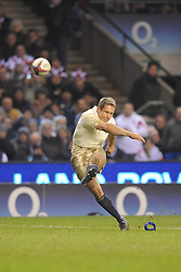 Jonny Wilkinson (England) converts another successful conversion during the RBS 6 Nations Championship match between England and Wales at Twickenham Stadium on February 6, 2010 in London, England.
