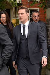 Blue star and Big Brother Contestant Lee Ryan departs Ealing Magistrates Court, London, UK, where he is charged with drink driving after a night out in London.<br /> Friday, 2nd May 2014. Picture by Ben Stevens / i-Images