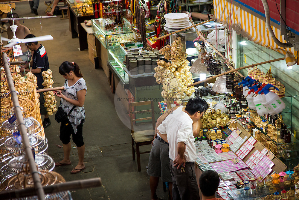 General view of the Bird & Insect Market in Shanghai, China