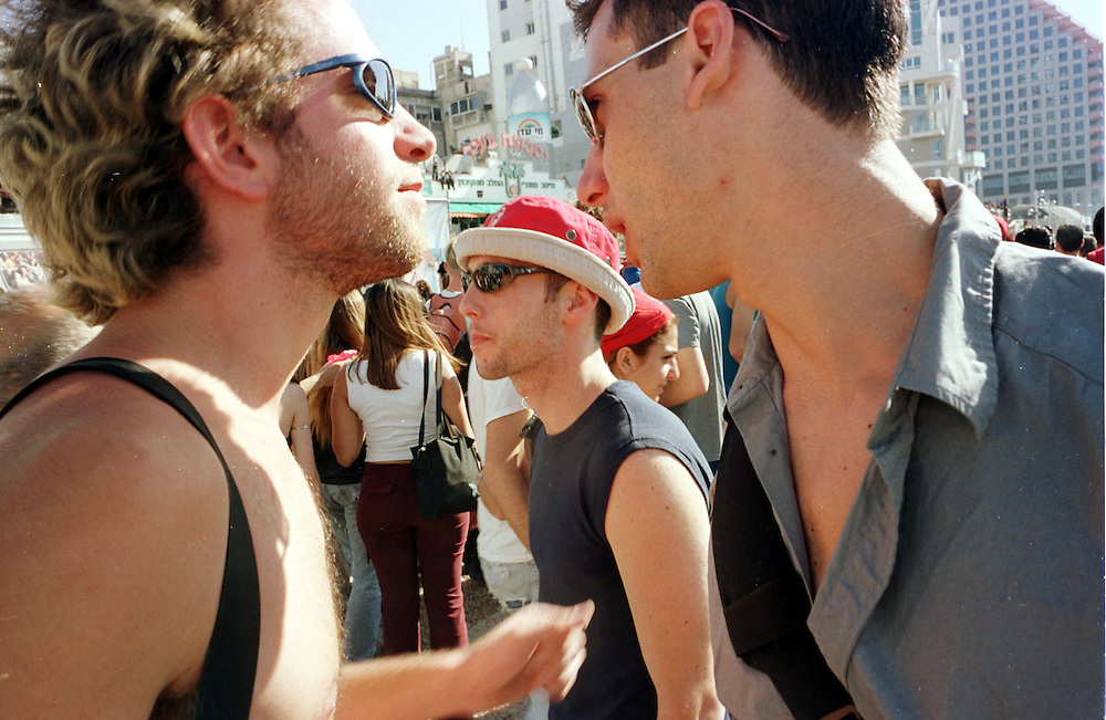 Avisahi and his friends at the Love Parade on the beach in Tel Aviv...Photo: Nadav Neuhaus
