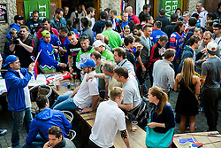 Anze Kopitar of Slovenia of Slovenian Ice Hockey National Team at meeting with their supporters at day off during 2015 IIHF World Championship, on May 9, 2015 in Restaurant Zadni Vratka, Stodolni Street, Ostrava, Czech Republic. Photo by Vid Ponikvar / Sportida