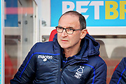 Nottingham Forest manager Martin O'Niell  before the EFL Sky Bet Championship match between Nottingham Forest and Blackburn Rovers at the City Ground, Nottingham, England on 13 April 2019.