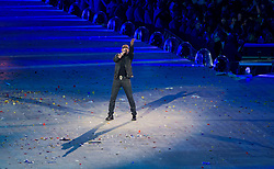 Aug. 12, 2012 - London, England, United Kingdom - George Michael preforms in the Closing Ceremony during the London Olympics 2012 at the Olympic Stadium on August 12, 2012 in London, United Kingdom. (Credit Image: © Paul Kitagaki Jr./ZUMAPRESS.com)