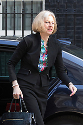 © licensed to London News Pictures. London, UK 03/06/2013.  Secretary of State for the Home Department, Theresa May arriving Downing Street on Monday, 3 June 2013. Photo credit: Tolga Akmen/LNP