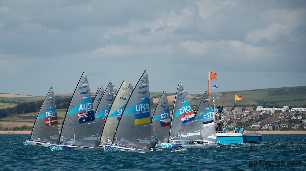 2012 Olympic Games London / Weymouth<br /> <br /> Finn practice race