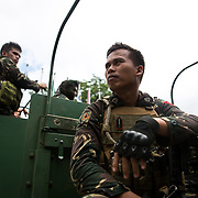 MARAWI, PHILIPPINES - JUNE 4: Arm Forces of Philippine is seen as they advance their positions as more soldiers reinforce to fight the Maute group in Marawi City in southern Philippines June 4, 2017. (Photo: Richard Atrero de Guzman/ANADOLU Agency)