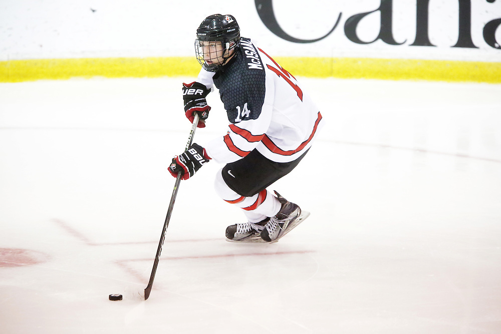 Elijah Brown (Seattle Thunderbirds) seen representing Team Canada White in the 2016 World Under-17 Hockey Challenge played in Sault Ste. Marie, Ont. Photo by Kenneth Armstrong for CHL Images