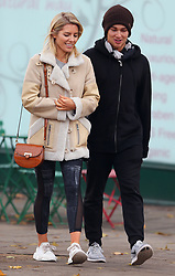 Strictly Come Dancing partners AJ Pritchard and Mollie King take a break from rehearsals and head out for lunch in London, UK. 21/11/2017<br />
