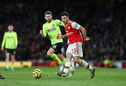 Gabriel Martinelli of Arsenal passes the ball - Mandatory by-line: Arron Gent/JMP - 18/01/2020 - FOOTBALL - Emirates Stadium - London, England - Arsenal v Sheffield United - Premier League