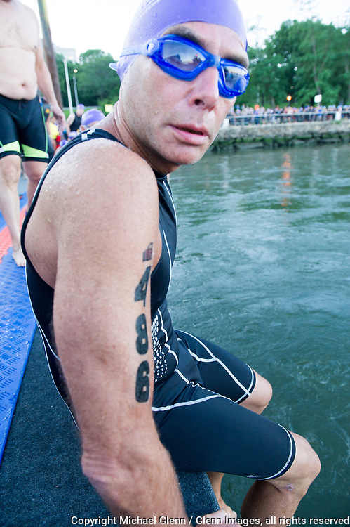 16 Jul 2017 NYC, New York United States of America // FDNY Triathalon team in the NYC Tri at the FDNY   Michael Glenn  /   for the FDNY