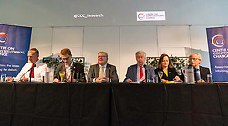 Former First Minister, Henry McLeish,  chairs a series of short talks and debates on the UK's vote to leave the European Union in an event organised by the Centre on Constitutional Change at Dynamic Earth in Edinburgh.<br /> <br /> Pictured: Tavish Scott MSP, Ross Greer MSP, Jackson Carlaw MSP, Lewis Macdonald MSP, Joan McAlpine MSP,  Henry McLeish