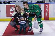 KELOWNA, CANADA - MARCH 17:  First Star of the Game Dillon Dube #19 of the Kelowna Rockets at the Kelowna Rockets game on March 17, 2018 at Prospera Place in Kelowna, British Columbia, Canada.  (Photo By Cindy Rogers/Nyasa Photography,  *** Local Caption ***
