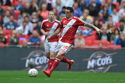 Lee Tomlin, Middlesbrough, Middlesbrough v Norwich, Sky Bet Championship, Play Off Final, Wembley Stadium, Monday  25th May 2015