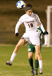 Virginia defender Alex Singer (19)..The Virginia Cavaliers defeated the Loyola (MD) Greyhounds 4-1 in the first round of the NCAA Women's Soccer tournament held at Klockner Stadium in Charlottesville, VA on November 16, 2007.