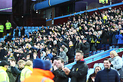 Burton Albion fans applaud the Burton Albion players efforts at full time during the EFL Sky Bet Championship match between Aston Villa and Burton Albion at Villa Park, Birmingham, England on 3 February 2018. Picture by John Potts.