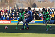 AFC Wimbledon defender & captain Barry Fuller (2) during the The FA Cup match between Curzon Ashton and AFC Wimbledon at Tameside Stadium, Ashton Under Lyne, United Kingdom on 4 December 2016. Photo by Stuart Butcher.